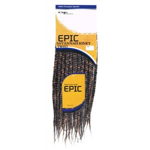 Epic Synthetic Hair Crochet Loop Braid Savannah Kinky Twist 14""