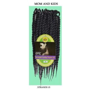 """Epic Synthetic Hair Crochet Braid Loop Senegal Jumbo Twist 10"""""""