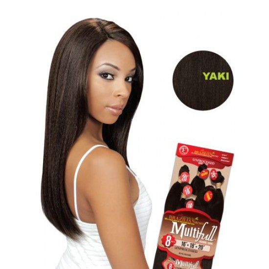 Eve 100% Unprocessed Brazilian Virgin Remy Human Hair Weave Yaki Straight