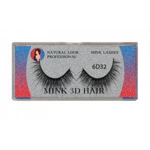 Natural Look Professional 6d Mink Eyelashes 6d32