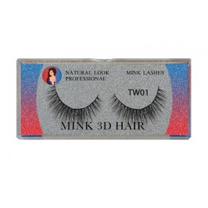Natural Look Professional 3d Mink Eyelashes Tw01