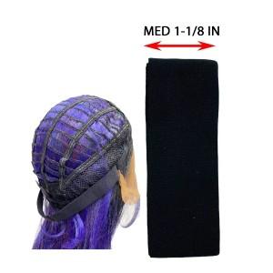 Ebo Elastic Wig Band 1-1/8 1 Yd Med Black