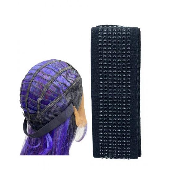 Ebo Silicone Elastic Wig Band Anti Slip  1-1/8 1 Yd Large Black