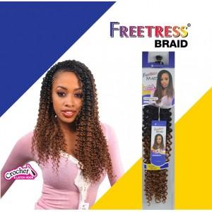"Freetress Synthetic Hair Crochet Braids Water Wave Bulk 22"""