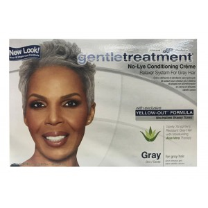 Gentle Treatment No Lye Conditioning Creme Relaxer Kit Gray Hair