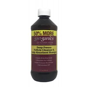 Groganics Deep Freeze Follicle Cleaner & Scalp Absorbent Shampoo 12 Oz