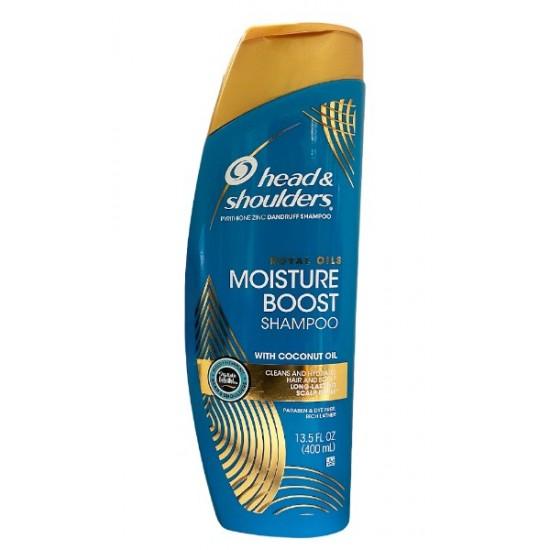 Head & Shoulders Moisture Boost Shampoo With Coconut Oil 13 Oz