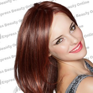 "18"" clip in - 9pcs 100% human hair extensions - dark auburn (33b)"