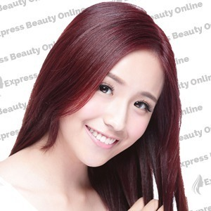 "16"" clip in - 9pcs 100% human hair extensions - dark wine/red (99j/red)"