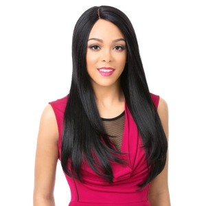 Its A Wig 100% Human Hair Premium Mix Lace Front Wig Bundle Straight