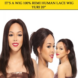 Its A Wig 100% Remi Human Hair Lace Wig Yuri 20""