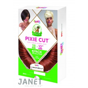 "Janet Collection Pixie Cut 38 Pcs + 10"" 100% Human Hair Weave"