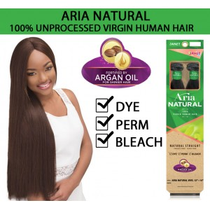 Janet Collection Aria Natural 100% Virgin Human Hair Weave Natural Straight