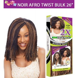 Janet Collection Noir Synthetic Hair Crochet Braid Afro Twist Bulk 26""