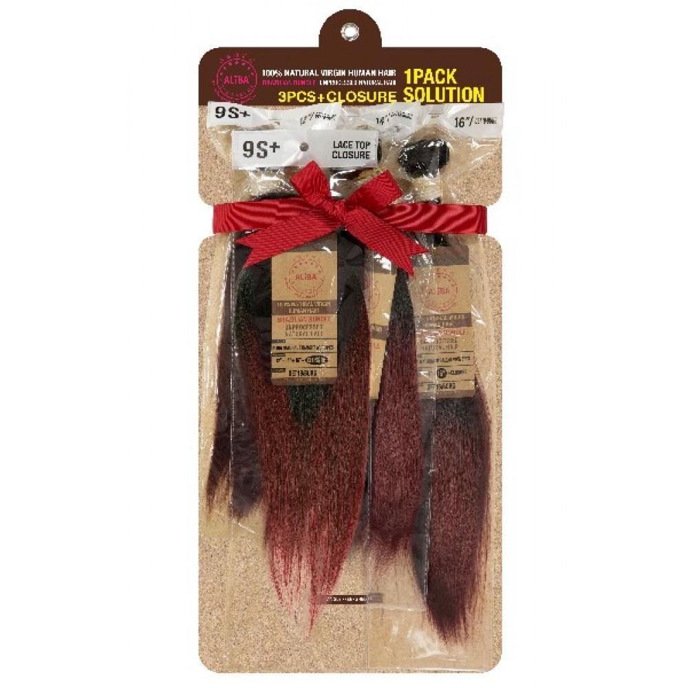 Janet Collection Aliba 100% Unprocessed Brazilian Virgin Remy Human Hair Weave 3 Pcs Straight