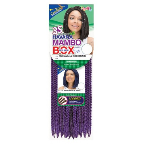 Janet Collection Mambo Synthetic Hair Crochet Braid Loop Havana Box