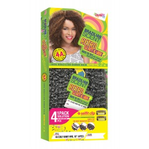 """Janet Collection Brazilian Scent Crimpy Kinky 100% Human Hair Weave 12"""""""