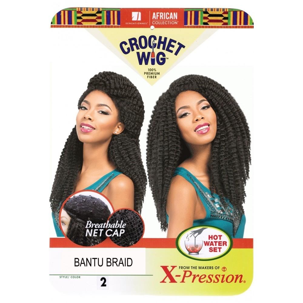 sensationnel african collection  crochet  synthetic wig bantu braid