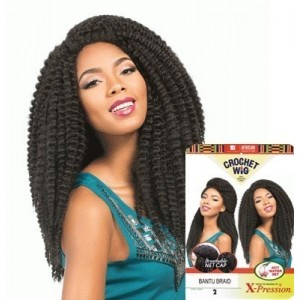 sensationnel african collection  crochet  synthetic wig bantu braid