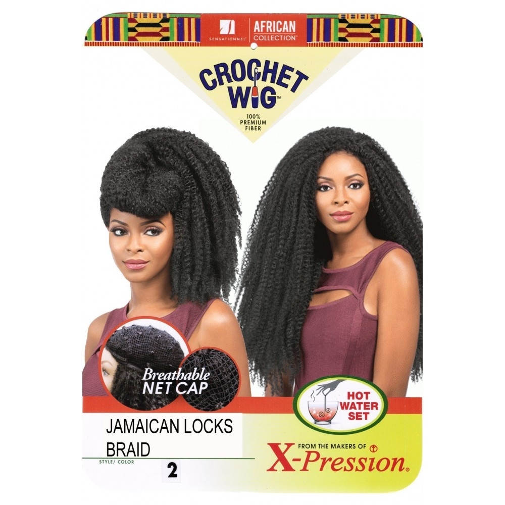 sensationnel african collection  crochet  synthetic wig jamaican locks braids