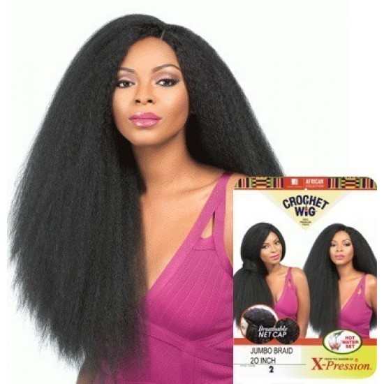 sensationnel african collection  crochet  synthetic wig jumbo braid 20