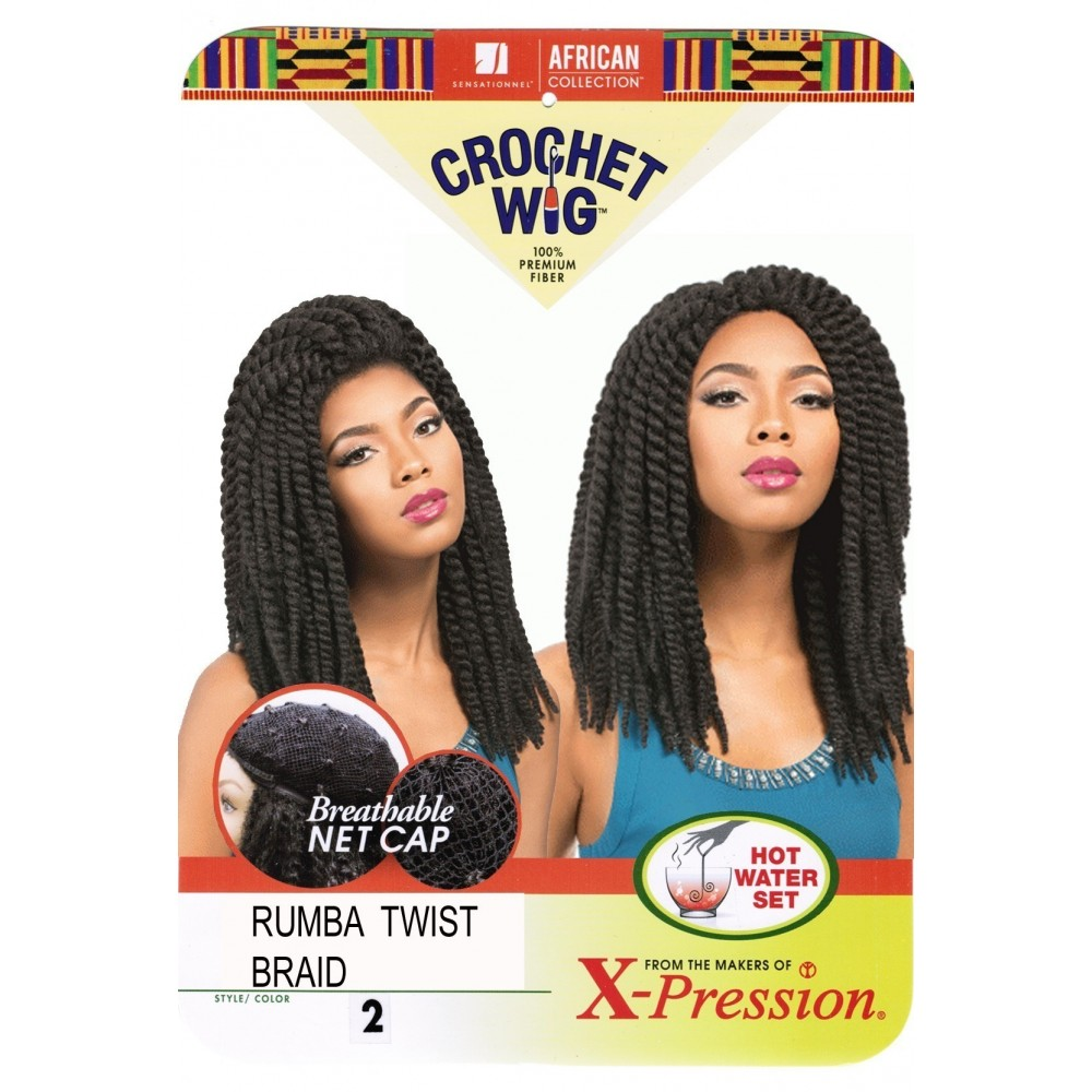 sensationnel african collection  crochet  synthetic wig rumba twist braid