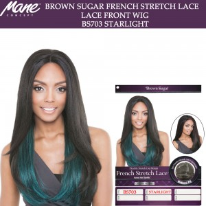 Mane Concept Brown Sugar French Stretch Lace Human Hair Stylemix Lace Front Wig Bs703 Starlight