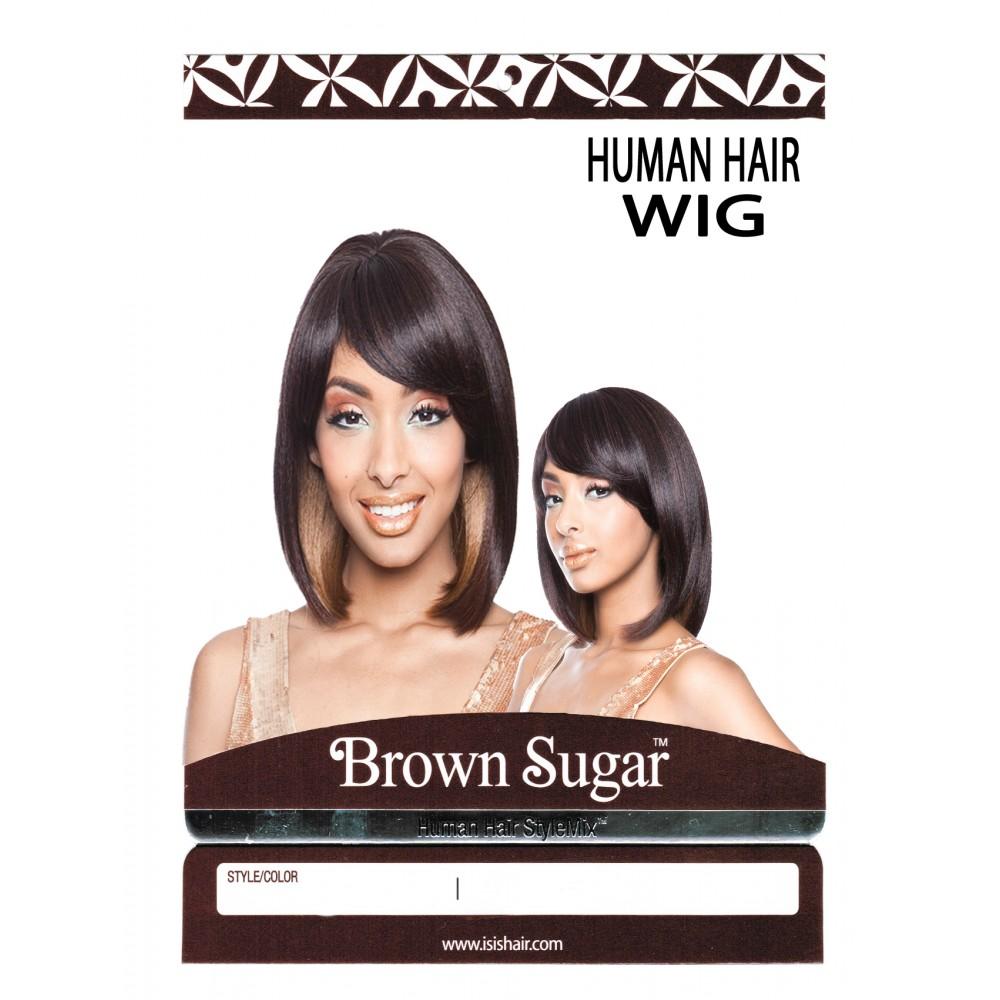 Brown Sugar Human Hair Stylemix Full Wig Bs105