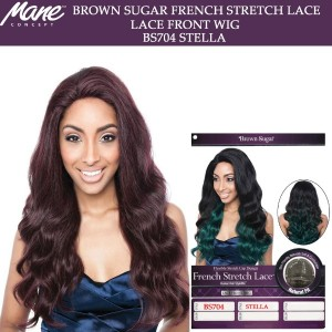 Mane Concept Brown Sugar French Stretch Lace Human Hair Stylemix Lace Front Wig Bs704 Stella