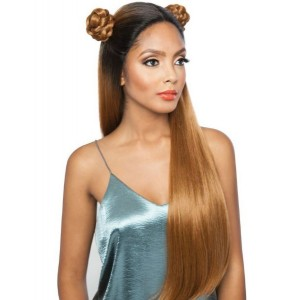 """Mane Concept Brown Sugar Versatile Lace Human Hair Stylemix Lace Front Wig Bsx01 Straight 28"""""""