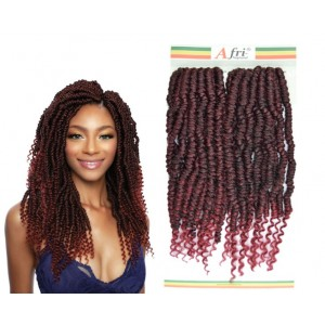 Mane Concept Afri Synthetic Hair Crochet Braid Loop 2x Pre Stretched Passion Grande Nomadik Twist 18""
