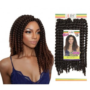 Mane Concept Afri Synthetic Hair Crochet Braid Loop 2x Pre Stretched Juicy Twist 12""
