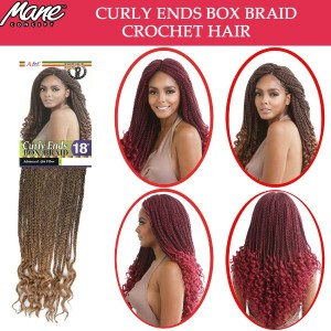 Mane Concept Afri Synthetic Hair Crochet Braid Loop Curly Ends Box Braid 18""
