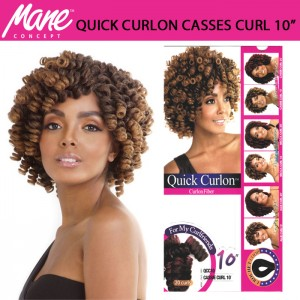 Mane Concept Afri Synthetic Hair Crochet Braid Loop Quick Curlon Cassie Curl 10""