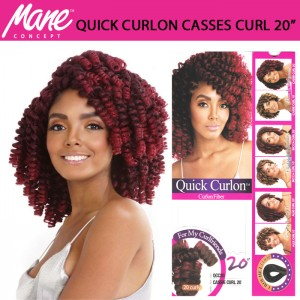 Mane Concept Afri Synthetic Hair Crochet Braid Loop Quick Curlon Cassie Curl 20""
