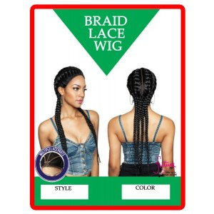Ebo Premium Synthetic Ghana Braid Lace Front Wig 28""