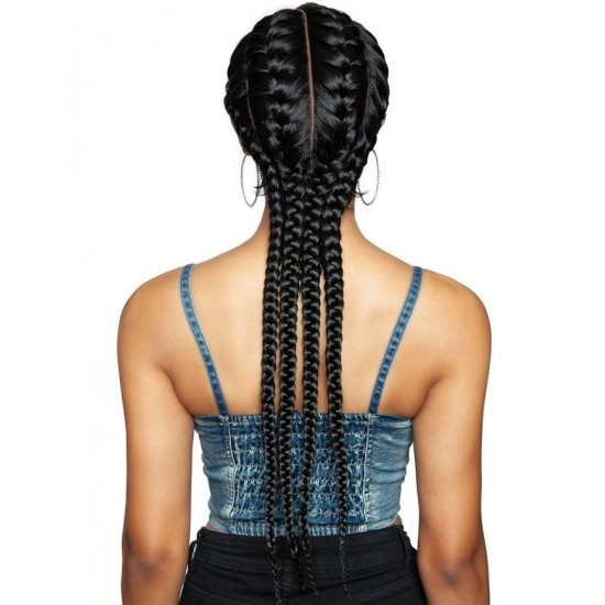 Ebo Premium Synthetic Ghana Braid Lace Front Wig 28