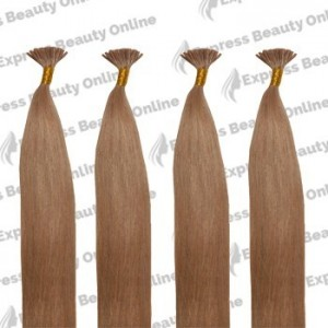 "18"" Fusion-u Tip - 100pcs 100% Human Hair Extension Name - Medium Ash Brown (10) - Straight"