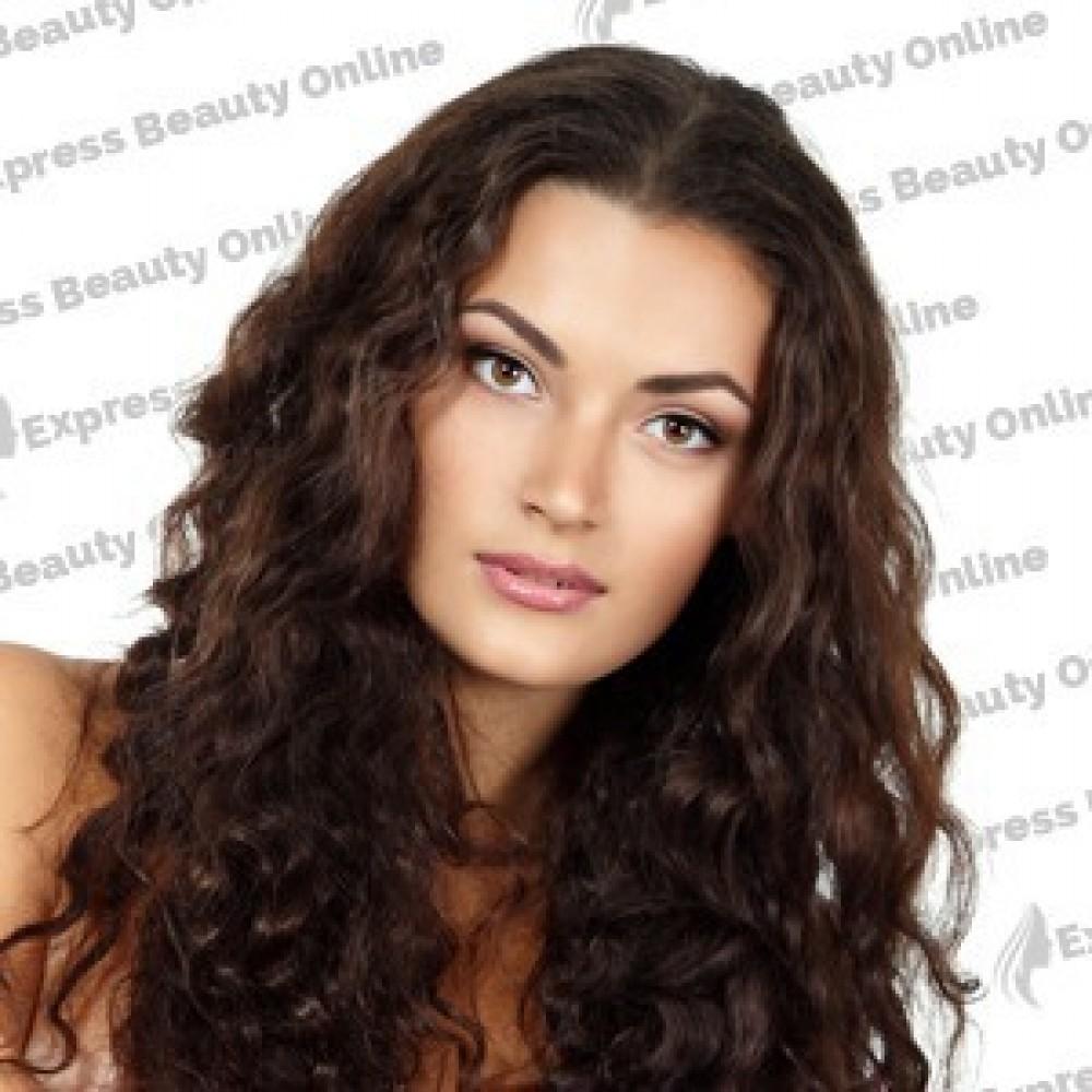 18 Clip In - 9pcs 100%  Human Hair Extensions - Wavy- Medium Brown/ Honey (4/27)