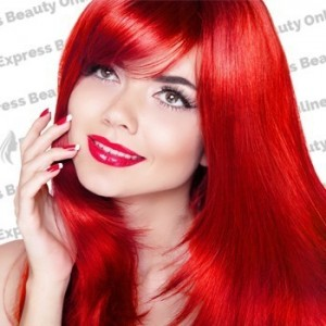 "18"" fusion-i tip - 140pcs 100% human hair extension name - red - straight"