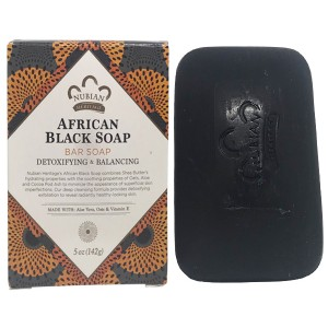 Nubian Heritage African Black Soap Bar Soap 5 Oz
