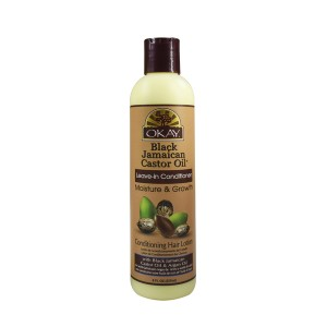 Okay Black Jamaican Castor Oil Leave In Conditioner  8 Oz