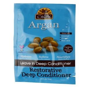 Okay Argan Leave In Deep Conditioner Restorative Deep Conditioner 1.50 Oz