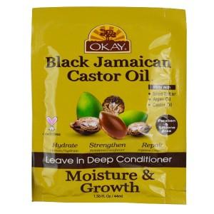 Okay Black Jamaican Castor Oil Leave In Deep Conditioner Moisture & Growth 1.50 Oz