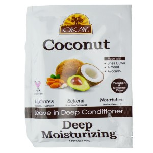 Okay Coconut  Leave In Deep Conditioner Deep Moisturizing 1.50 Oz