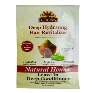 Okay Deep Hydrating Hair Revitalizer Natural Henna Leave In Deep Conditioner 1.50 Oz