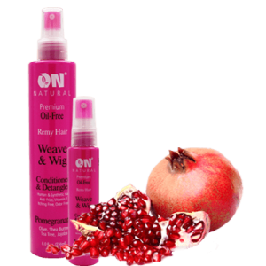 On Natural Oil Free Weave & Wig Conditioner Promegranate
