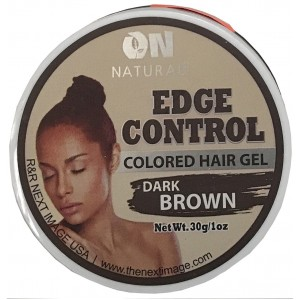 On Natural Edge Control Color Dark Brown 1 Oz