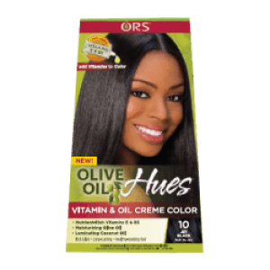 ors olive oil hues  -  rethink hair color  -  olive oil hues vitamin & oil creme color jet black
