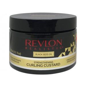 Revlon Realistic Black Seed Oil Designed For Natural Hair Strengthening Curling Custard 10.1 Oz